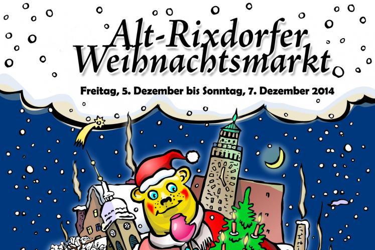 Rixdorfer Weihnachtsmarkt 2014 - Plakatdetailansicht